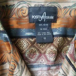 Positive Attitude Dresses - VTG Positive Attitude Southwestern Print Dress